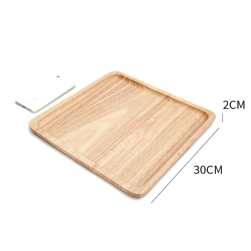 Wooden Round Storage Tray Plate Tea Food Dishe Drink Platter Food Plate Dinner Beef Steak Fruit Snack Tray Home Kitchen Decor - Цвет: 24