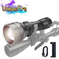 Unique Outdoor Taschenlampe 1407 T6 Led Taschenlampe 1200 LM Super Helle Weiße Licht 5 Modi Taschenlampe + Fern Druck