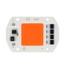 Lampe de croissance à puce COB, 20/30/50W, LED V, spectre complet, éclairage pour serre, végétation, semis de fleurs