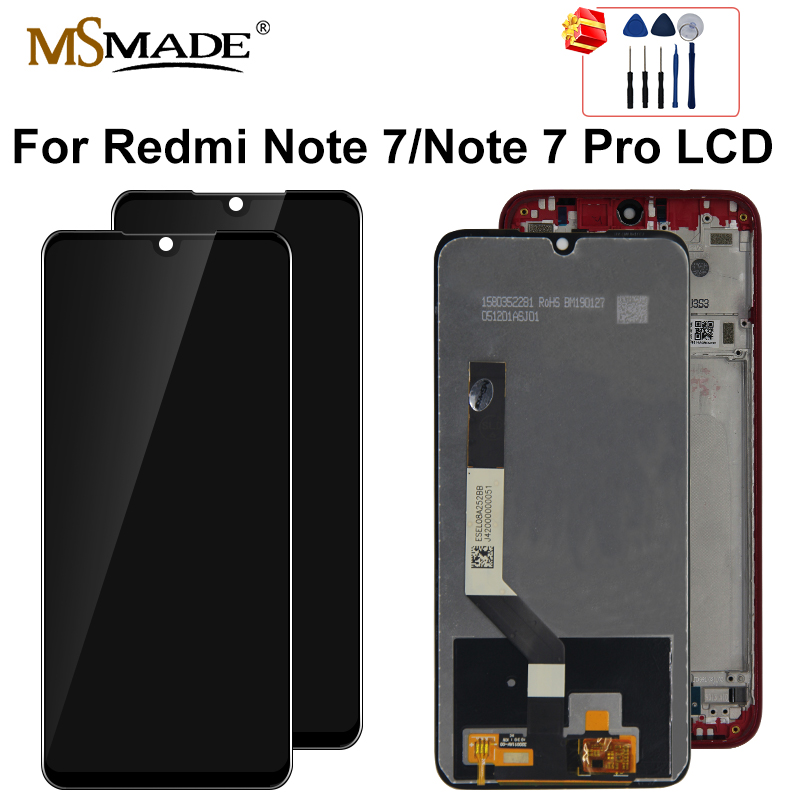 Original For Xiaomi Redmi Note 7 LCD Display Screen Touch Digitizer Assembly Repair Parts Redmi Note7 Pro LCD Display 10-Touch