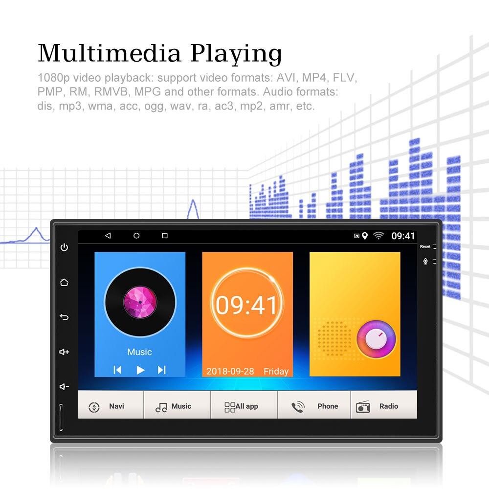 AMPrime автомобильное радио 2Din Android 8,0 Универсальный сенсорный автомобильный dvd-плеер GPS навигация WiFi Bluetooth HD радио плеер Мультимедиа Радио