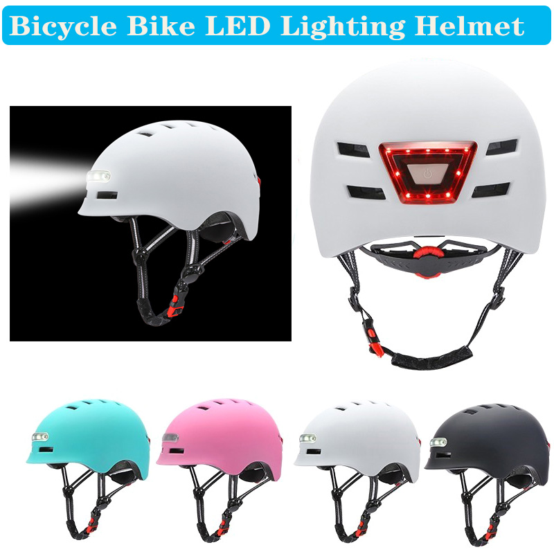 Cycling Bicycle Helmet MTB Road Bikes Helmets Integrally-mold LED Lighting Reflective EPS+PC Cycling Helmet Casco Ciclismo Cap