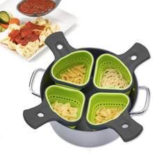 Coador de silicone dobrável coador cozinha coador espaguete net cesta coador ferramentas massas cozinha ferramentas cozimento