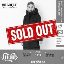 MIEGOFCE 2019 חורף נשים אוסף אופנתי ואופנתי ביו קצפת הלבשה עליונה אוסף חם ארוך מעיל ביו קצפת מכירה