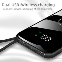 Wireless Powerbank 10000mAh Portable Extemal Battery Charger for Mobile Phone Power Bank for Xiaomi Iphone Charging Power Supply