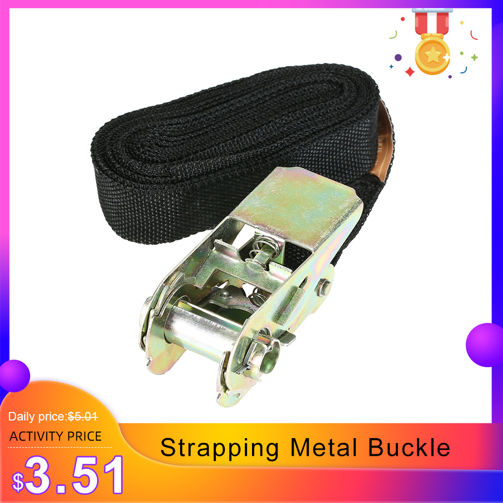 5M Car Tie Down Strap Strong ratchet Belt Luggage Bag Cargo Lashing Metal Buckle Car Styling Accessories Parts