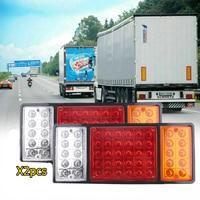 2pcs 36 Leds 12V 24V DC Trailer Car Truck Led Tail Light Lamp Auto Stop Indicator Rear Light