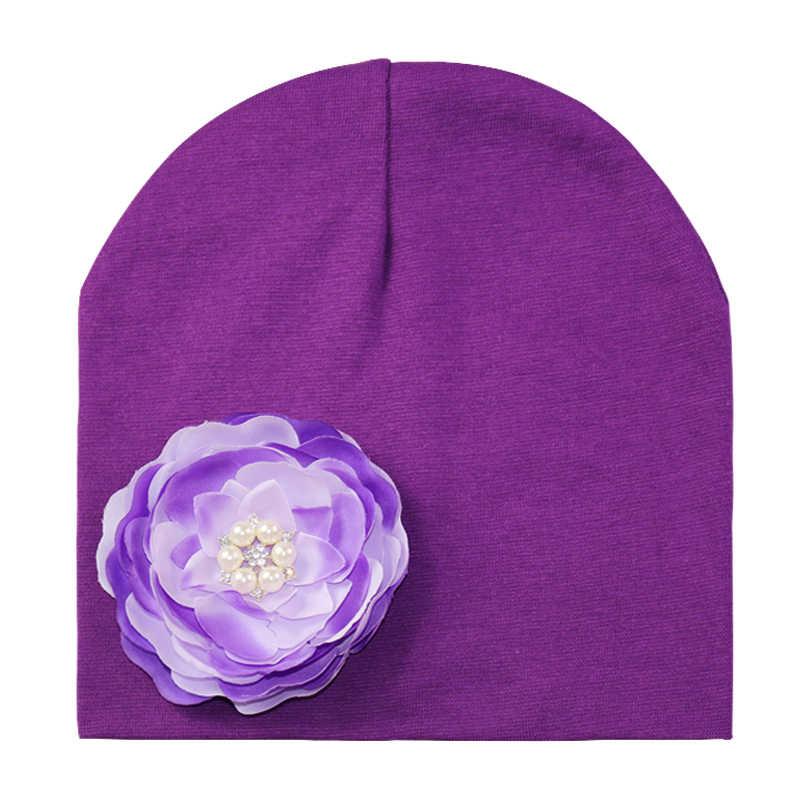 เด็กผู้หญิงหมวกผ้าฝ้ายหมวกเด็กฤดูหนาวเด็กหมวกดอกไม้หมวกเด็กหมวก