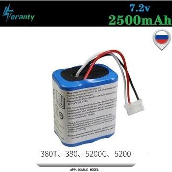 Batería Original de 7,2 V y 2500mAh para iRobot Roomba, Braava 380, 380T, Mint 5200c, Ni-MH, 2500mAh, 2,5ah, 7,2 v, recargable, 1 Uds.