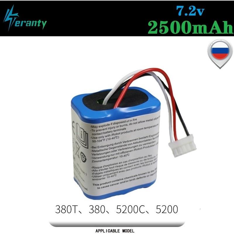 Original 7.2V 2500mAh Battery For IRobot Roomba Braava 380 380T Mint 5200c Ni-MH 2500mAh 2.5Ah 7.2v Rechargeable Battery 1Pcs