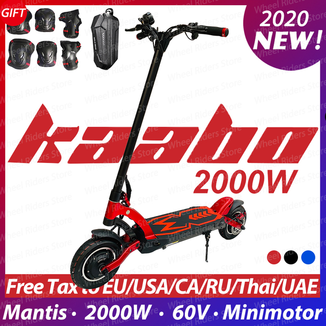 $  2020 Original Kaabo Mantis dual motor e-scooter 2000W LG battery 60V 24.5Ah electric scooter two wheel foldable skateboard