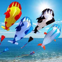 3D мягкий КИТ Бескаркасный Летающий воздушный змей спортивная игрушка для игр на открытом воздухе детская Забавная подарок