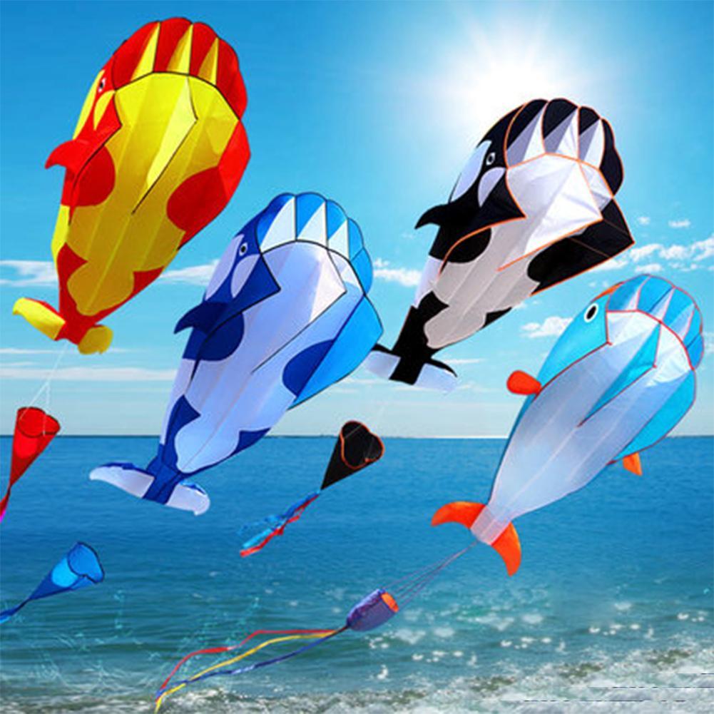 3D Soft Whale Frameless Flying Kite Outdoor Sports Toy Children Kids Funny Gift
