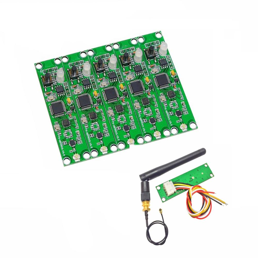 5PCS Wireless DMX Board With Antenna 2 In 1 Transmitter & Receiver Wireless DMX512 PCB Module