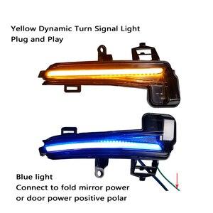 Image 2 - 2 pieces For Skoda Superb B8 MK3 III 3V A7 2016 2017 2018 2019  Dynamic Side Wing LED Turn Signal Blinker Mirror flasher Light