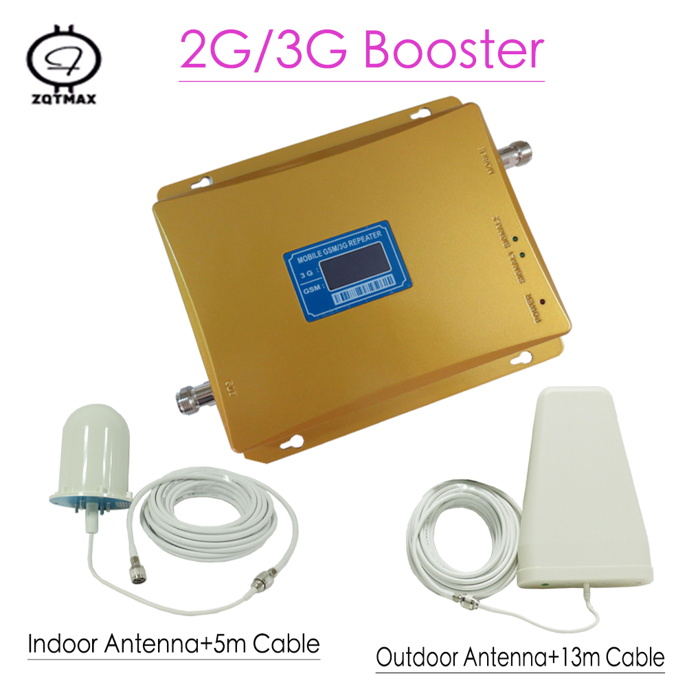 LCD Displays 3G GSM Signal Repeater 900MHz UMTS 2100MHz 2G 3G Dual Band Cell Phone Signal Booster Dual Band  Amplifier
