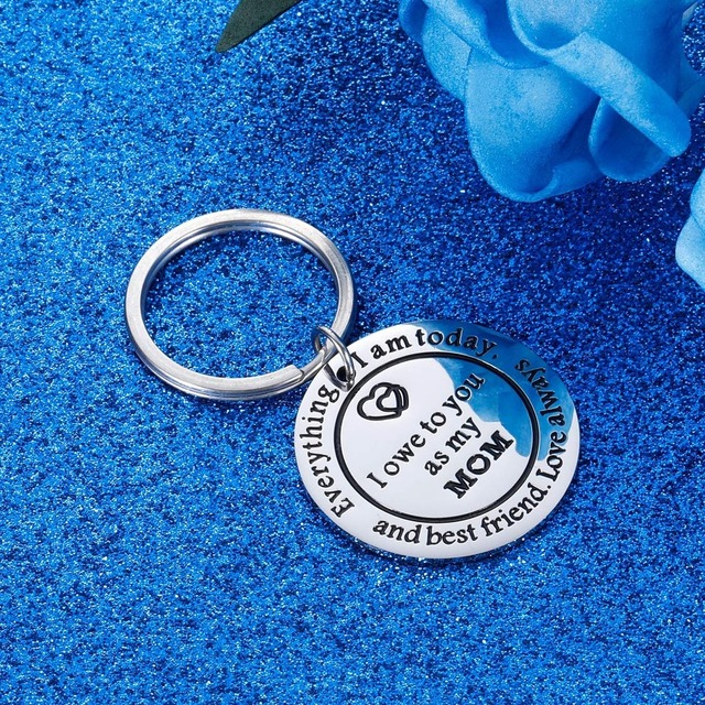 Thank You Keychains Mother's Day Key Chain Mom Gift  for Birthday Wedding Appreciate for Mother Mama Stepmother from Daughter 3