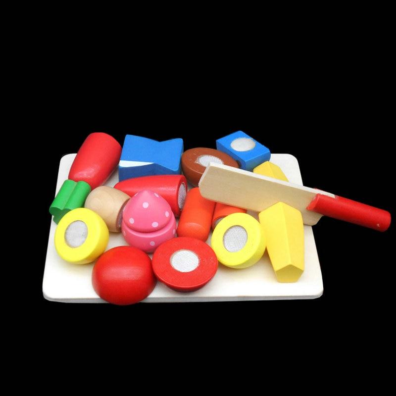 Klasične kuhinjske igrače Lesene simulacije Sadje / Zelenjava - Igra igranja vlog - Fotografija 2