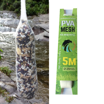 5M PVA Wide Mesh Refill Carp Fishing Stocking Rig Bait Wrap Bags fishing tools and equipment