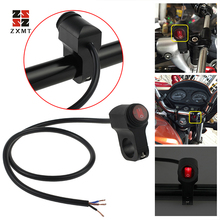 ZXMT Motorcycle 7/8 22mm Handlebar light On Off Switch 12V Waterproof ATV Headlight Fog Spot ON-OFF-ON Switch лоферы spot on spot on sp023awgsr70