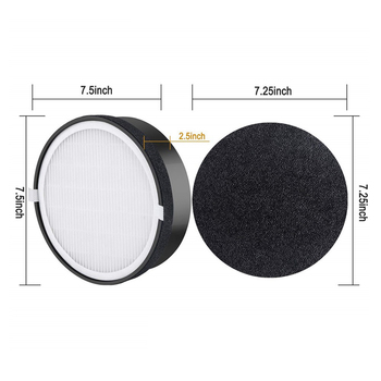 Hepa filter replacements For Levoit Air Purifier LV-H132 LV-H132-RF Activated Carbon filter parts cleaning Air Purifier Part 405 240 35mm high efficiency collect dust hepa filter and activated carbon filter of air purifier parts for f vxh50c f pxh55c et