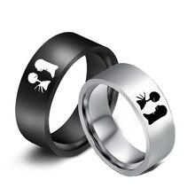 Кошмар перед рождественское кольцо Джек и Салли кольцо для женщин набор свадебных колец для влюбленных кольца Шарм ювелирные изделия Аксессуары Рождественский подарок