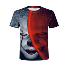 Clown Print Men's T-Shirt Men and Women Pennywise Personality Creative tshirt Horror Movie Funny T-Shirt Tops Halloween(China)