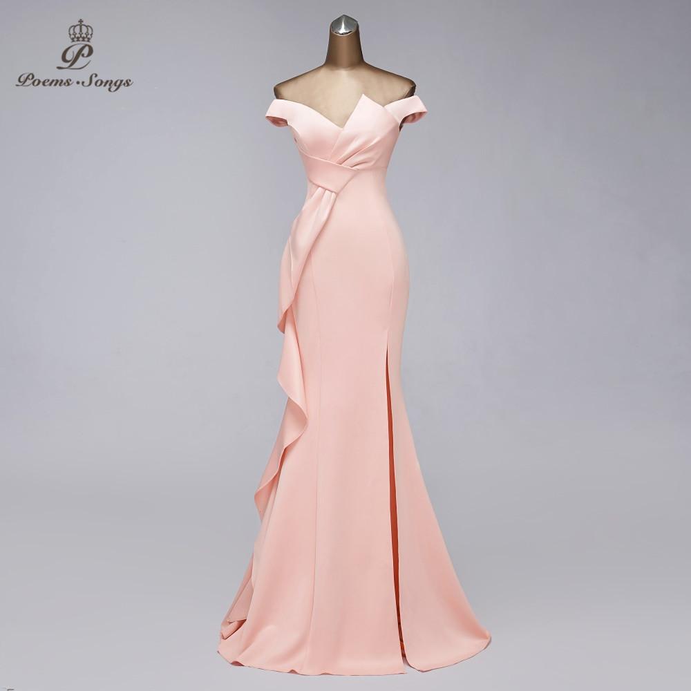 Elegant mermaid evening dress Boat Neck vestido de festa Candy Color evening gowns elegant formal party dresses women evening