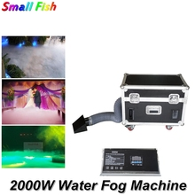 цена на Dj Equipment Water Base Fog Machine 2000W Smoke Machine Remote And DMX Control Stage Light Effect Low Lying Water Smoke Machine