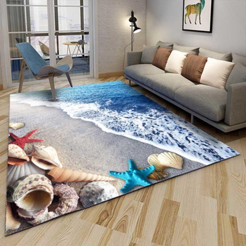 2017  3D Ocean stone Soft Carpet Bathroom Toilet Bath Shower Pad Mat Rug 3pcs