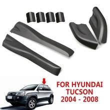 pcmos 8pcs/set Roof Rails Rack End Cover Shell For Hyundai Tucson 2004 - 2008 Auto Exterior Parts Front Rear Left Right Roof