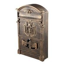 Запираемый безопасный почтовый ящик LETTERBOX настенный нержавеющий почтовый ящик Модель: бронза