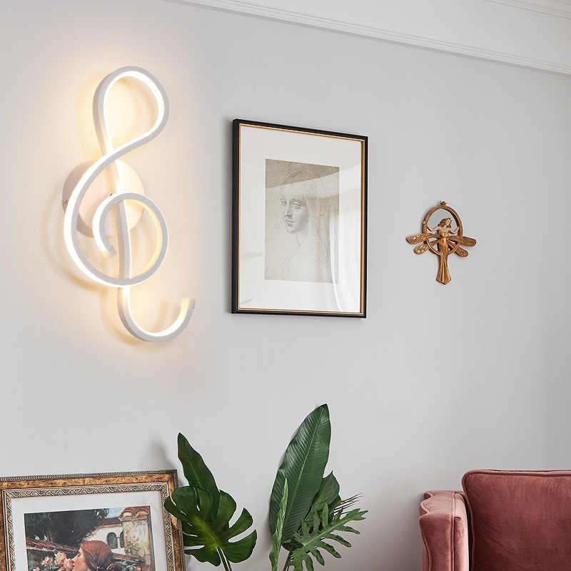 Светодиодный настенный светильник в скандинавском стиле, простой светодиодный светильник для спальни, настенный светильник для гостиной, лампа для помещений, теплый и белый свет