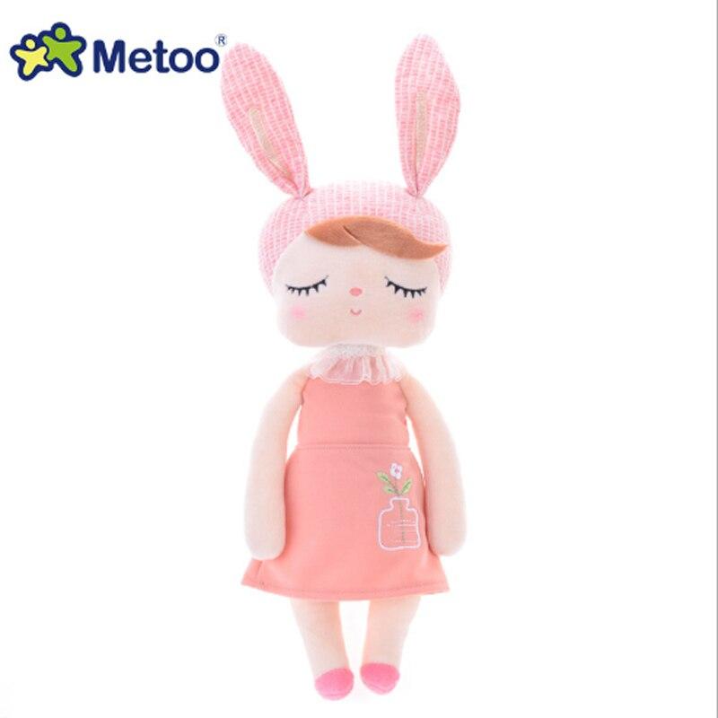 Metoo mais novo pelúcia & recheado coelho doce bonito animais para crianças brinquedos angela metoo boneca para meninas aniversário presente de natal 45cm