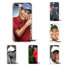 For Xiaomi Mi3 Samsung A10 A30 A40 A50 A60 A70 Galaxy S2 Note 2 Grand Core Prime GOLF Sports Superstar Tiger Woods Logo TPU Case(China)