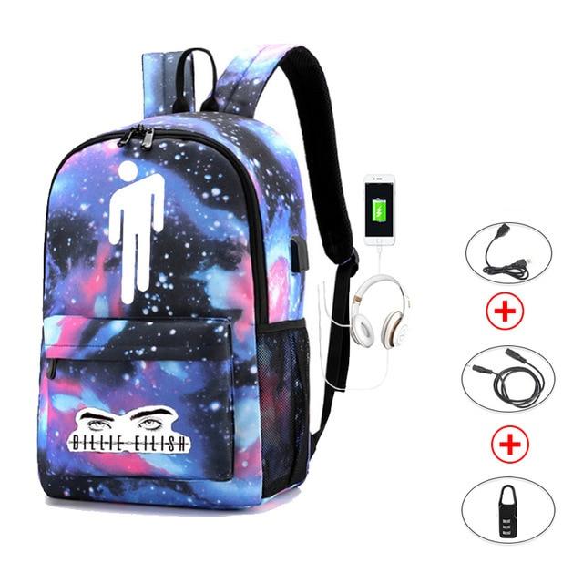 Купить с кэшбэком Luminous Student Backpack /Mochila / Teenage Rucksack School Bag Usb Charging Laptop Anti Theft Bag