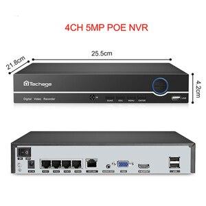 Image 4 - Techage H.265 4CH 8CH 4MP 5MP 1080P POE NVR Audio Surveillance réseau enregistreur vidéo jusquà 16CH pour caméra IP POE