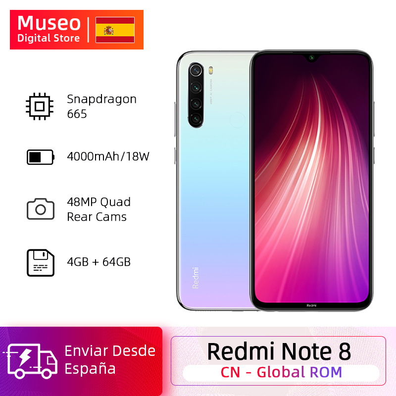 <font><b>Global</b></font> ROM <font><b>Xiaomi</b></font> <font><b>Redmi</b></font> <font><b>Note</b></font> <font><b>8</b></font> <font><b>4GB</b></font> <font><b>64GB</b></font> 48MP Quad Camera Smartphone Snapdragon 665 Octa Core 6.3FHD Screen Quick Charge image