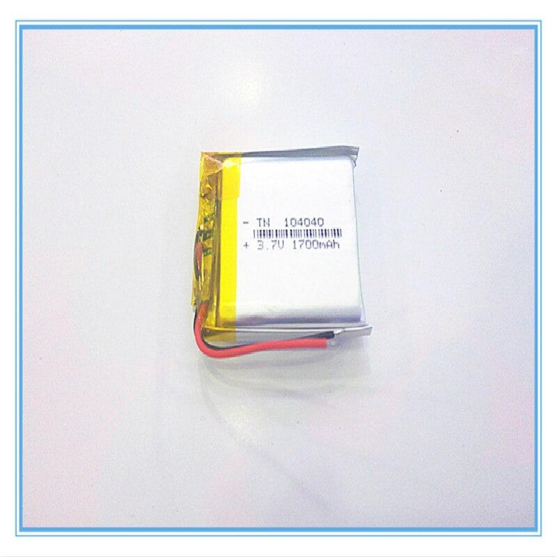 Free shipping 3.7V,1700mAH[104040] PLIB;polymer lithium ion / Li-ion battery for tablet pc,power bank,mp4,cell phone,speaker,GPS