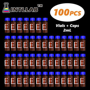 Image 1 - INTLLAB ChromatographyVial 2ml Hplc Vials and Blue Screw Cap with Hole 100pcs/Pack