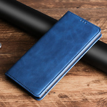 Retro Leather Flip Case For vivo Y3 Y5S Y11 2019 Y12 Y15 Y17 Y19 Y51 Y71 Y71i Y81 Y81i Y81s Y83 Y85 Y93 Y93s Y97 Magnetic Cover(China)