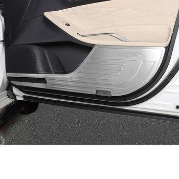 lsrtw2017 black silver stainless steel car door anti-kick panel for toyota avalon 2018 2019 2020 2021 xx50 accessories auto