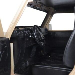 Image 5 - RC 1/10 Jeep Wrangler JK Rubicon 4 Kapı Sert Vücut Shell Kiti 313mm Dingil Mesafesi Paletli Arabalar Eksenel SCX10 90046 90047 RGT EX86100