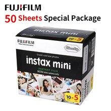 Fujifilm instax mini 9 filme borda branca 50 folhas/pacotes de papel fotográfico para fuji câmera instantânea 8/7s/25/50/90/sp 1/sp 2