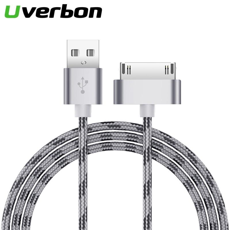 Нейлоновый кабель для быстрой зарядки USB кабель для iPhone 4 Original 30-контактный iPod 4 Кабель зарядного устройства для iPhone 4s кабель 3gs ipad 2 3 ipod nano touch ...