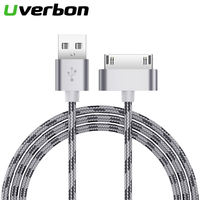 Nylon Schnelle Lade USB Kabel Für iPhone 4 Original 30-pin iPod 4 Ladegerät kabel Für iPhone 4s kabel 3gs ipad 2 3 ipod nano touch