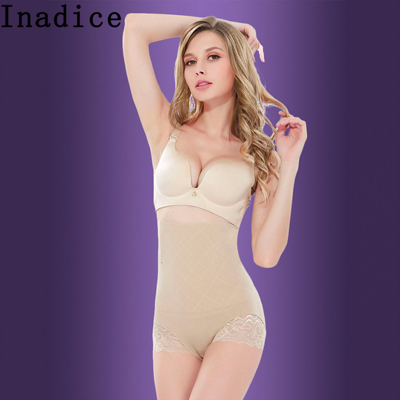 Inadice Black Corset Belt Ladies Sexy Underwear High Waist Control Panties Breathable Body Shaper Women Fashion Spandex Seamless