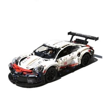 New Technic series Formula Racing Car 911 RSR Model 20097 90066 Lepining 42096 1580pcs Supercar Building Blocks Toy