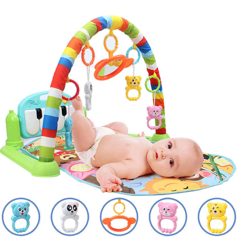 Pregnant With Music Infant Kick And Play Piano Gym Mat Baby Pedal Piano Toys 0 3-6 Months 1-Year-Old Music Game Blanket