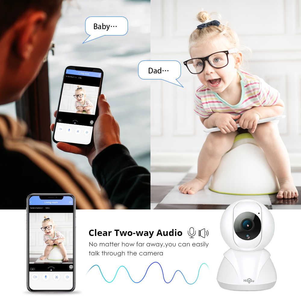 Hiseeu 720P/1080P cámara IP 2MP Wi-Fi inalámbrico red CCTV cámara de seguridad IP la cámara Monitor de bebé P2P inteligente de movimiento de la pista